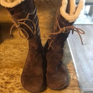 Ugg Brown Suede Fur Boots